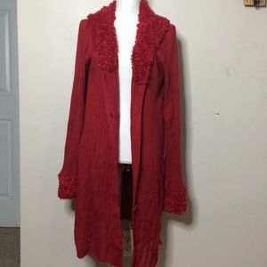 Catos red sweater duster C1